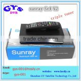 Sunray sr4 V2 sunray4 V2 hd se Triple tuner 3 Sunray 800Se hd Sr4 V2| sunray4 hd se sr4 800 SE V2 wifi inside,hot