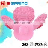 Mini Cosmetic Brush Washing Scrubber with Suction Cup Silicone Makeup Brush Cleaning Pad