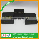 jewelery black dyed paper boxes customized earring pendant velvet inlay boxes