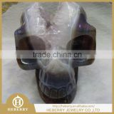 "5"" 1.38KG natual agate Geodes home decoration Skull for hot sale in christmas season"