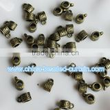 Online Sale 6*7mm Acrylic Antique Gold Cup Shaped Spacer Beads with Large Hole For Chains DIY