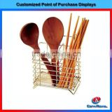 wholesale chrome plating metal wire kitchen spoon stand