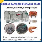 wholesales and cusotmed folding crab lobster fishing trap for sale