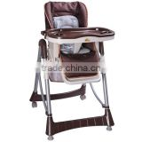 Folding Baby High Feeding Chair - Brown