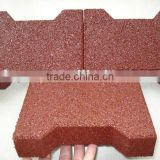 red face dog-bone pavers rubber bricks