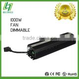 Electronic Ballast1000W Dimmable With Cooling Fan For HID Lamps
