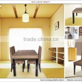 Dining furniture set, water hyacinth table and four dining chair in one set