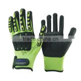 NMSAFETY high-quality cut level 5 TPR resistant glove mechanical high impact safety gloves
