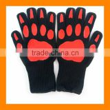 Best Pirce Steak Stones Safe Cute Bear Hand Oven Mitts Ideal For Barbecue High Heat BBQ Gloves Grilling Gloves