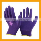 13Gauge Printed Polyester Liner Foam Latex Coated Hand Work Gloves