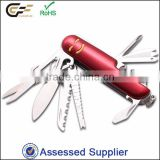 Electrophoresed handle wih smile face stainless pocket knife