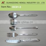High class Stainless steel dinner cutlery spoon fork knife sets
