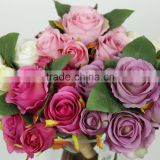 artificial rose flower bouquet bush floral decoration europe style flores artificiales