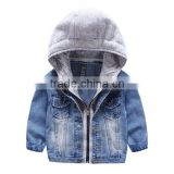 hot sell winter children fashion denim coat kids handsome jacket for boys