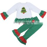 2017 new designs wholesale boutique clothing china kids clothing girl outfits for Christmas