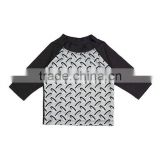 Hot Sale Boys Sportswear Black Abstract Rashguard Boys Fashion Rashguard Boys Wear B-NP-T905-369