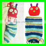 Foxnovo Cute Caterpillar Style Baby Infant Newborn plush Beanie Hat Clothes Baby Photograph Props