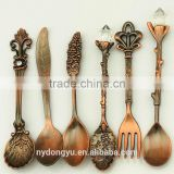 rose vintage palm tree coffee spoon /hy zinc alloy creative ice cream spoon and fork /fancy dessert spoon dinnerware