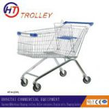 Supermarket shopping trolley cart on four wheels wholesale