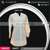 Wholesale Casual Shirt, Ladies Office Shirt, White Ladies Long Shirts for Sale