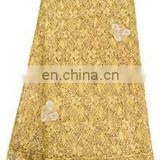 Gold color Africa chemical metallic embroidery lace for weeding