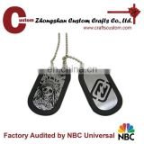 Cheap military dog tag with rubber