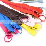 60cm 25cm No. 3 long resin zipper suitable for clothes bag shoes and textile with big ring puller