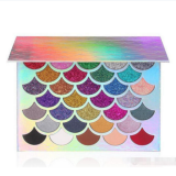 X1 Good Quality Cleof Cosmetics 32 Colors Mermaid Glitter Prism Eyeshadow Palette