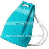 polyester beach bag with large grommets