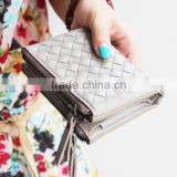 2015 newest models Pu Leather Wallet Cartera Carteira para dama Mujer