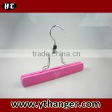 Pink hair weave hanger wooden hair extension hanger and package bag