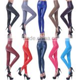 High Waisted Women's Faux Leather Stretch Leggings Skinny Pants
