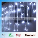2*1M 104LEDs CE ROHS SAA approved large LED holiday time Christmas outdoor icicle lights 220V/110V