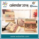 clear high quality desk calendar 2013