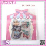 Factory Outlets Computer Embroidery Children Streak Kitty Combination Suit Patch , Ironed and Sewn