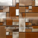 4mm / 6mm / 8mm/ Aluminum Mosaic And Glass Mosaic Tile-Brown Color Mixed