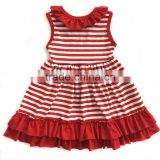 High quality baby girl dress stripes design summer dresses for kids baby girls party dress design