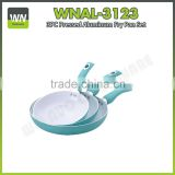 Manufactory available lowest price pizza fry pan white ceramic coating pan aluminium fry pan set