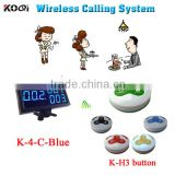 electronic buzzer system with digital receiver and rechargeable battery call button for restaurant
