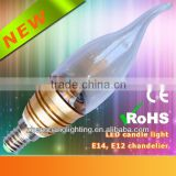 3W E14 Lamp Base Epistar Bulb Lamp, 360 Degree Beam Angle Led Candle Light, New Style High Lumen & Brightness with CE/RoHS/EMC