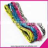 Wholesale elastic headband with silicone printed,non slip headband with black printing