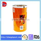 laminated material metalized plastic packaging film for snack food