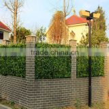 China supplier garden decoration green plastic artificial leaf fence