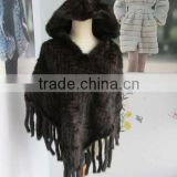 Mink fur shawl for women /high quality women mink fur cape