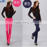 Jeans Women Candy Colors Denim Pants Plus Size Slim Elastic Boot Cut FlareTrousers