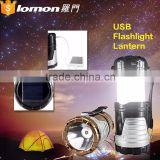 6 In 1 Wholesale Usb Flashlight Lantern Light Rechargeable Solar Led Camping Lantern With Mobile Phone Charger                                                                                                         Supplier's Choice