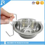 Wholesale China Market Cage Hanging new style stainless steel dog bowl
