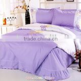 Purple Embroidery Bedding With Sheet Set For Girl Bedroom                                                                         Quality Choice