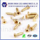 cross recess flat head m4 copper screw fittings for copper pipe
