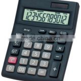 Solar power 12 digit dual calculator